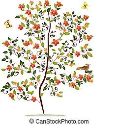 alberello, fiore