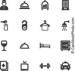 albergo, icone