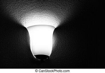 albergo, lampada, room.