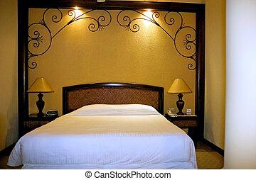 albergo ricorso, lusso, letto