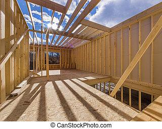 albergue construcción, encuadrado, nuevo