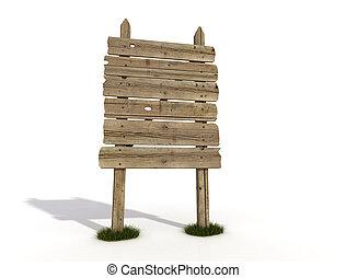 alberino legno, vecchio, vuoto, segno