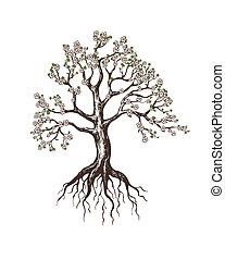 albero, azzurramento