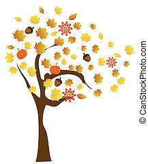 albero, cadere