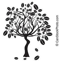 albero, caffè, vettore