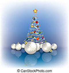 albero, decorazioni natale