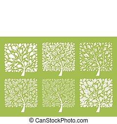 albero, disegno, arte, tuo, collezione