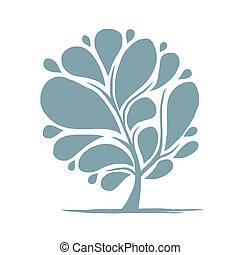 albero, disegno astratto, tuo