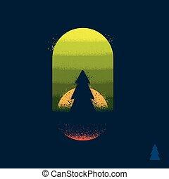 albero, emblema, foresta