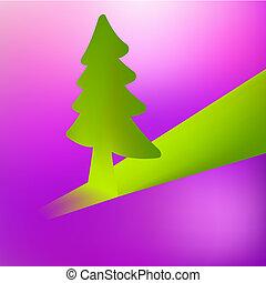 +, albero, fondo., vettore, eps8, natale, 3d