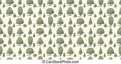 albero, foresta, fondo, seamless