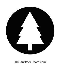 albero, icona