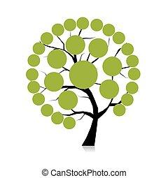 albero, infographic, disegno, tuo