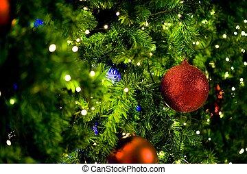 albero natale, con, colorito, palle