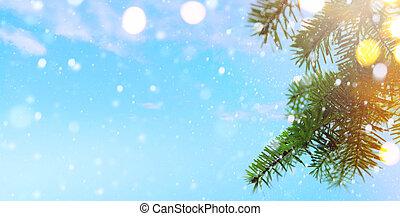 albero natale, e, vacanze, luci