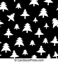 albero natale, modello, fondo, vettore, illustrazione
