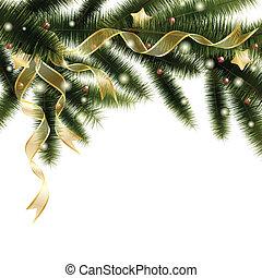 albero, natale, ramo