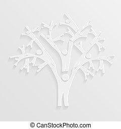 albero, persone
