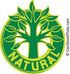albero, simbolo, (sign, badge)