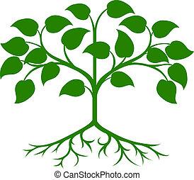 albero, stilizzato, icona