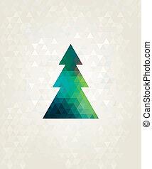 albero, triangolo, natale, colorito, diamanti