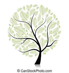 albero, tuo, arte, disegno, bello