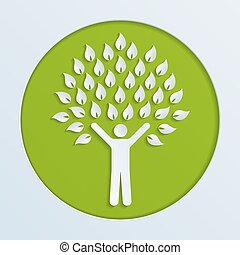albero, umano