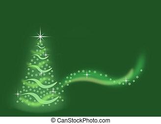 albero verde, natale, fondo
