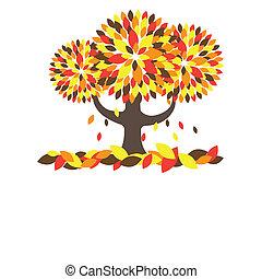 albero., vettore, illustrazione