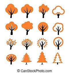 albero, vettore, set