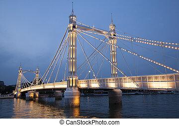 Albert Bridge; Chelsea; London - Albert Bridge (1873); ...