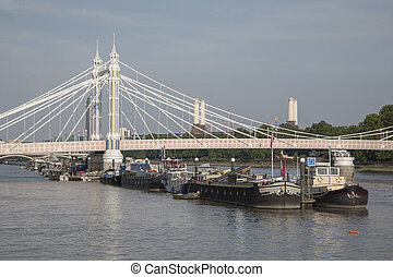 Albert Bridge; Chelsea; London