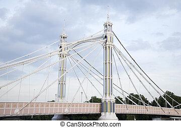 Albert Bridge; Chelsea; London