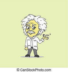 Albert Einstein Cartoon Vector