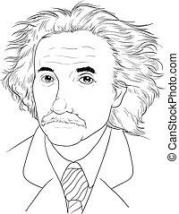 Albert Einstein - Sketch of Albert Einstein
