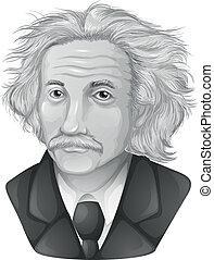 Albert Einstein - Drawing of Albert Einstein (gray)