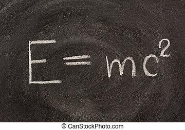 albert einstein, e=mc2, physisch, formel, auf, tafel