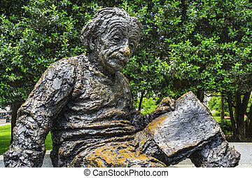 Albert Einstein Memorial Statue Monument National Academy of Sciences Washington DC. Dedicated 1979, statue by Robert Berks