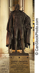 Albert Gallatin Statue US Treasury Department US Treasury Depart