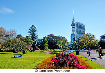 Albert park in Auckland New Zealand. - AUCKLAND - MAY 31...