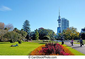 Albert park in Auckland New Zealand. - AUCKLAND - MAY 31...