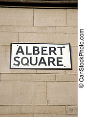 Albert Square Street Sign, Manchester