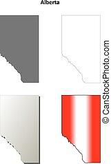Alberta blank outline map set - Alberta province blank...