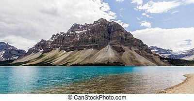 Alberta, Canada, beautiful Bow Lake at Banff National Park