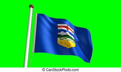 Alberta flag (seamless & green screen)