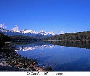 Alberta, lago,  Canadá,  patricia