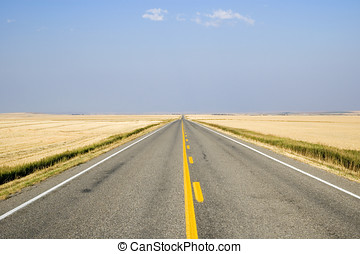 Alberta Prairies - Open view of the Alberta prairies from...