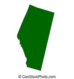 Alberta Provine - Map of Alberta province or territory in...