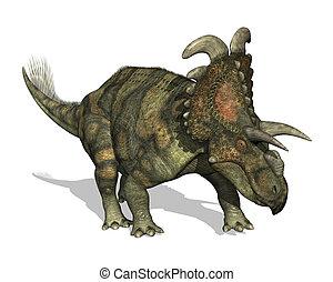 Albertaceratops Dinosaur - 3D render depicting an...