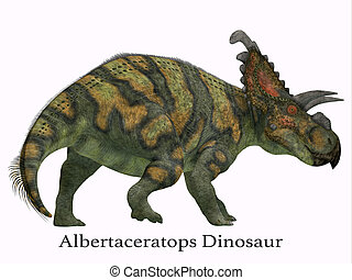 Albertaceratops Dinosaur Tail with Font